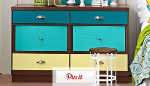 Color-Blocked Dresser