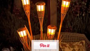 Tiki Torch Planter Lamp