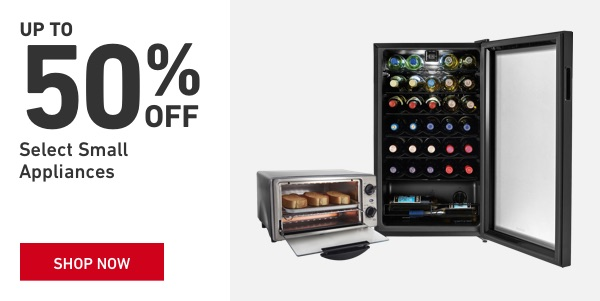 Up to 50 percent off Small Appliances.