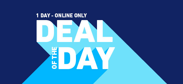 One day, online only deal of the day.