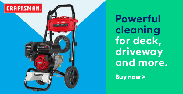 Power through cleanup jobs with Craftsman.