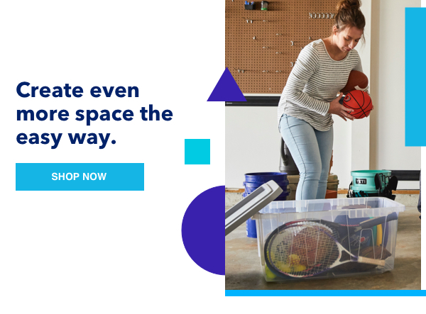 Create even more space the easy way.