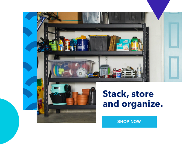 Stack, store and organize.