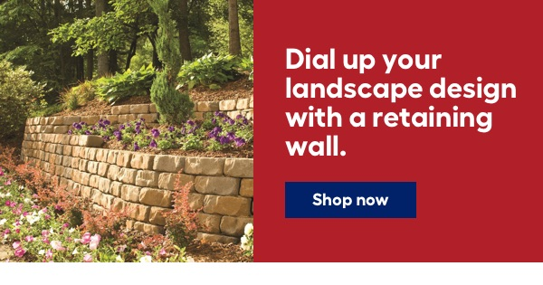 Dial up your landscape design with a retaining wall.