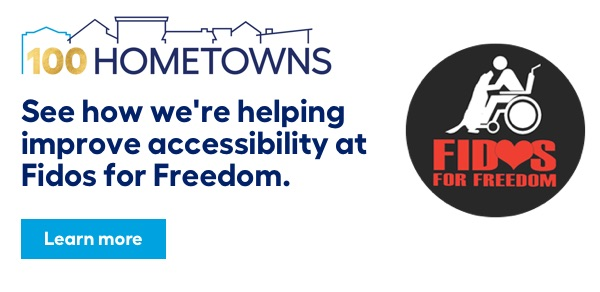 100 Hometowns. See how we're helping improve accessibility at Fidos for Freedom.